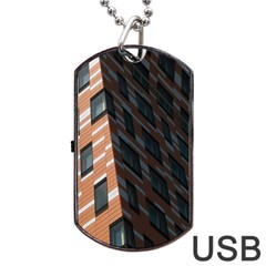 Building Architecture Skyscraper Dog Tag Usb Flash (one Side) by Nexatart