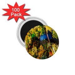 Bridge River Forest Trees Autumn 1 75  Magnets (100 Pack)  by Nexatart