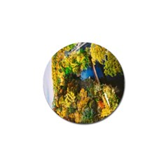 Bridge River Forest Trees Autumn Golf Ball Marker (10 Pack) by Nexatart
