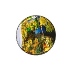 Bridge River Forest Trees Autumn Hat Clip Ball Marker (10 Pack)