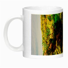 Bridge River Forest Trees Autumn Night Luminous Mugs