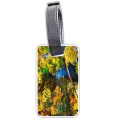 Bridge River Forest Trees Autumn Luggage Tags (one Side)  by Nexatart