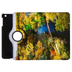 Bridge River Forest Trees Autumn Apple Ipad Mini Flip 360 Case by Nexatart