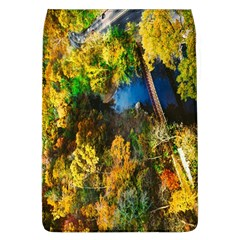 Bridge River Forest Trees Autumn Flap Covers (l)  by Nexatart