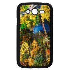 Bridge River Forest Trees Autumn Samsung Galaxy Grand Duos I9082 Case (black) by Nexatart