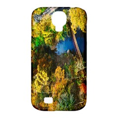 Bridge River Forest Trees Autumn Samsung Galaxy S4 Classic Hardshell Case (pc+silicone)