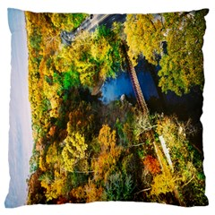 Bridge River Forest Trees Autumn Standard Flano Cushion Case (one Side) by Nexatart