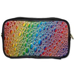 Bubbles Rainbow Colourful Colors Toiletries Bags 2 Side