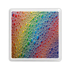 Bubbles Rainbow Colourful Colors Memory Card Reader (square)  by Nexatart