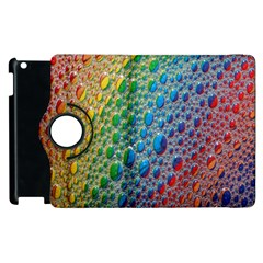 Bubbles Rainbow Colourful Colors Apple Ipad 2 Flip 360 Case by Nexatart