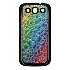 Bubbles Rainbow Colourful Colors Samsung Galaxy S3 Back Case (black)