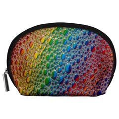 Bubbles Rainbow Colourful Colors Accessory Pouches (large)