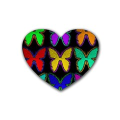 Butterflies Pattern Heart Coaster (4 Pack)