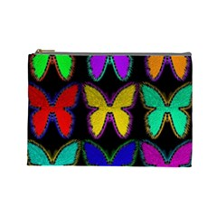 Butterflies Pattern Cosmetic Bag (large)