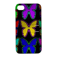 Butterflies Pattern Apple Iphone 4/4s Hardshell Case With Stand