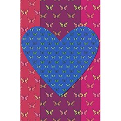 Butterfly Heart Pattern 5 5  X 8 5  Notebooks by Nexatart