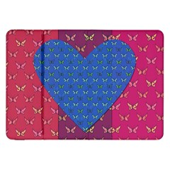 Butterfly Heart Pattern Samsung Galaxy Tab 8 9  P7300 Flip Case