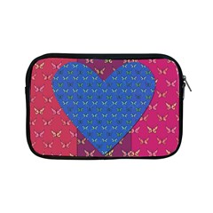 Butterfly Heart Pattern Apple Ipad Mini Zipper Cases