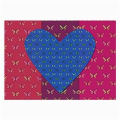 Butterfly Heart Pattern Large Glasses Cloth (2 Side)