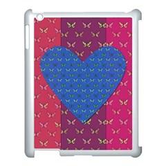 Butterfly Heart Pattern Apple Ipad 3/4 Case (white)