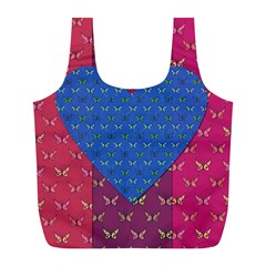 Butterfly Heart Pattern Full Print Recycle Bags (l)