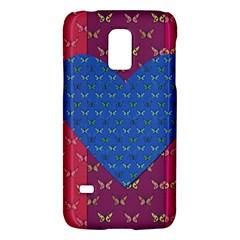 Butterfly Heart Pattern Galaxy S5 Mini by Nexatart