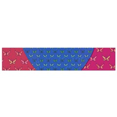 Butterfly Heart Pattern Flano Scarf (small) by Nexatart