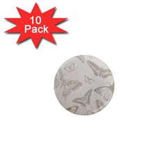 Butterfly Background Vintage 1  Mini Magnet (10 Pack)