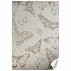 Butterfly Background Vintage Canvas 12  X 18