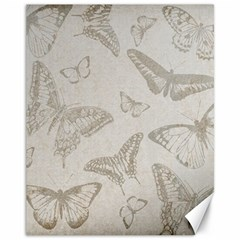 Butterfly Background Vintage Canvas 11  X 14   by Nexatart