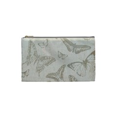 Butterfly Background Vintage Cosmetic Bag (small)