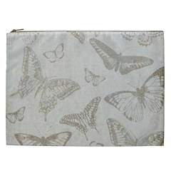 Butterfly Background Vintage Cosmetic Bag (xxl)