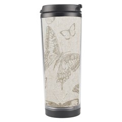 Butterfly Background Vintage Travel Tumbler