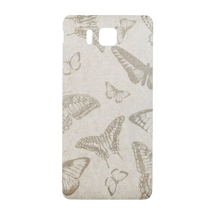 Butterfly Background Vintage Samsung Galaxy Alpha Hardshell Back Case