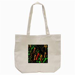 Butterfly Abstract Flowers Tote Bag (cream) by Nexatart