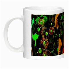 Butterfly Abstract Flowers Night Luminous Mugs