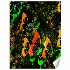 Butterfly Abstract Flowers Canvas 36  X 48