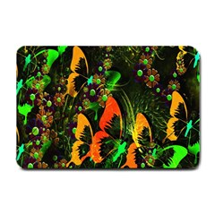 Butterfly Abstract Flowers Small Doormat