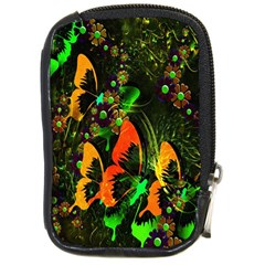 Butterfly Abstract Flowers Compact Camera Cases