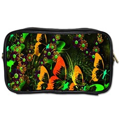 Butterfly Abstract Flowers Toiletries Bags 2 Side