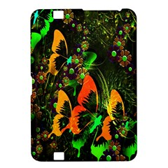 Butterfly Abstract Flowers Kindle Fire HD 8.9  by Nexatart