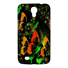 Butterfly Abstract Flowers Samsung Galaxy Mega 6 3  I9200 Hardshell Case