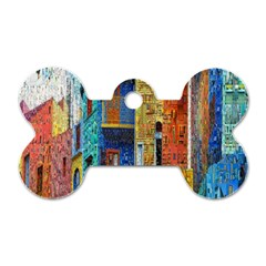 Buenos Aires Travel Dog Tag Bone (two Sides) by Nexatart