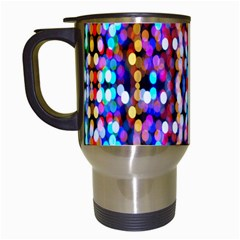 Bokeh Abstract Background Blur Travel Mugs (white)