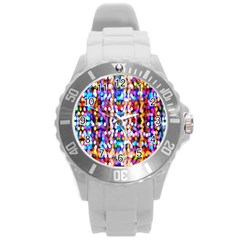 Bokeh Abstract Background Blur Round Plastic Sport Watch (l)