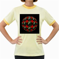 Camera Monitoring Security Women s Fitted Ringer T Shirts by Nexatart