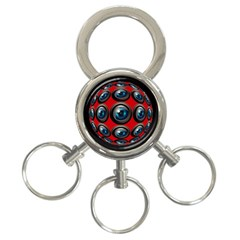 Camera Monitoring Security 3 Ring Key Chains
