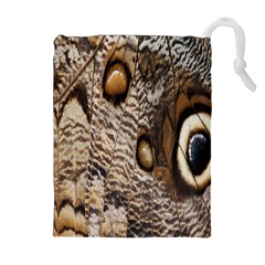 Butterfly Wing Detail Drawstring Pouches (extra Large) by Nexatart