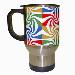 Candy Pattern  Travel Mugs (white) by Nexatart