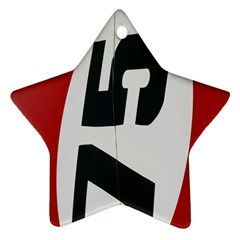 Car Auto Speed Vehicle Automobile Star Ornament (two Sides)